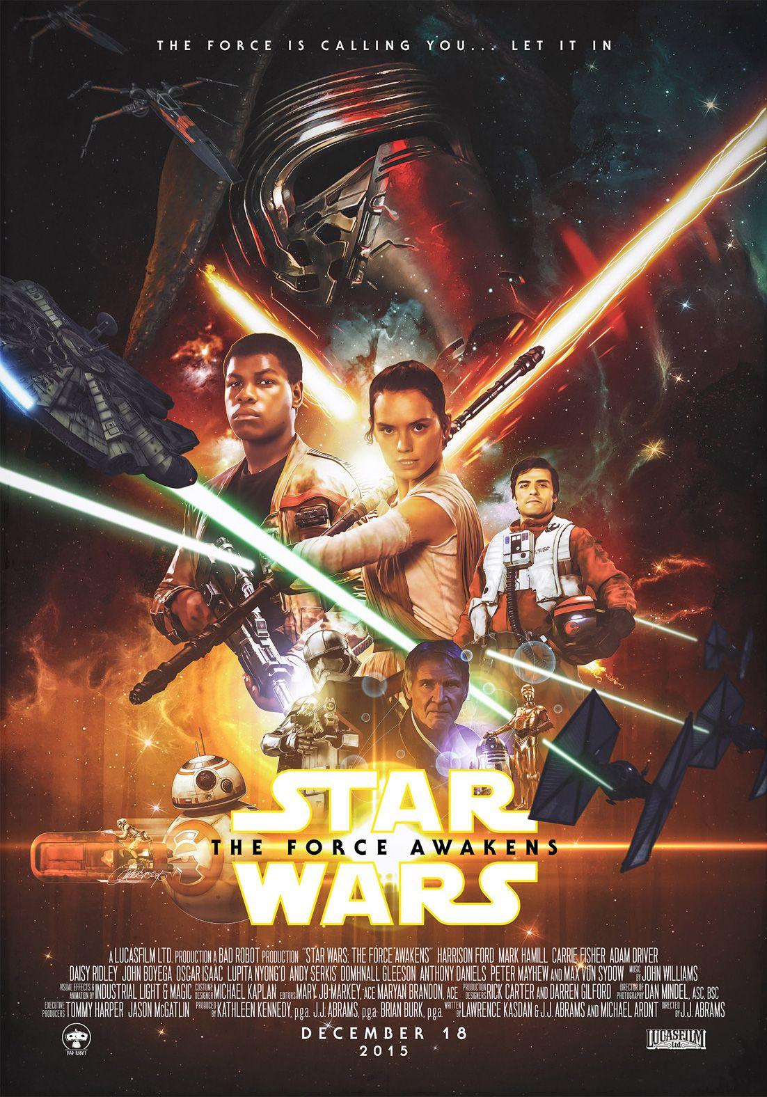 Star Wars The Force Awakens Force Awakens Poster Star Wars Poster Star Wars Episode Vii