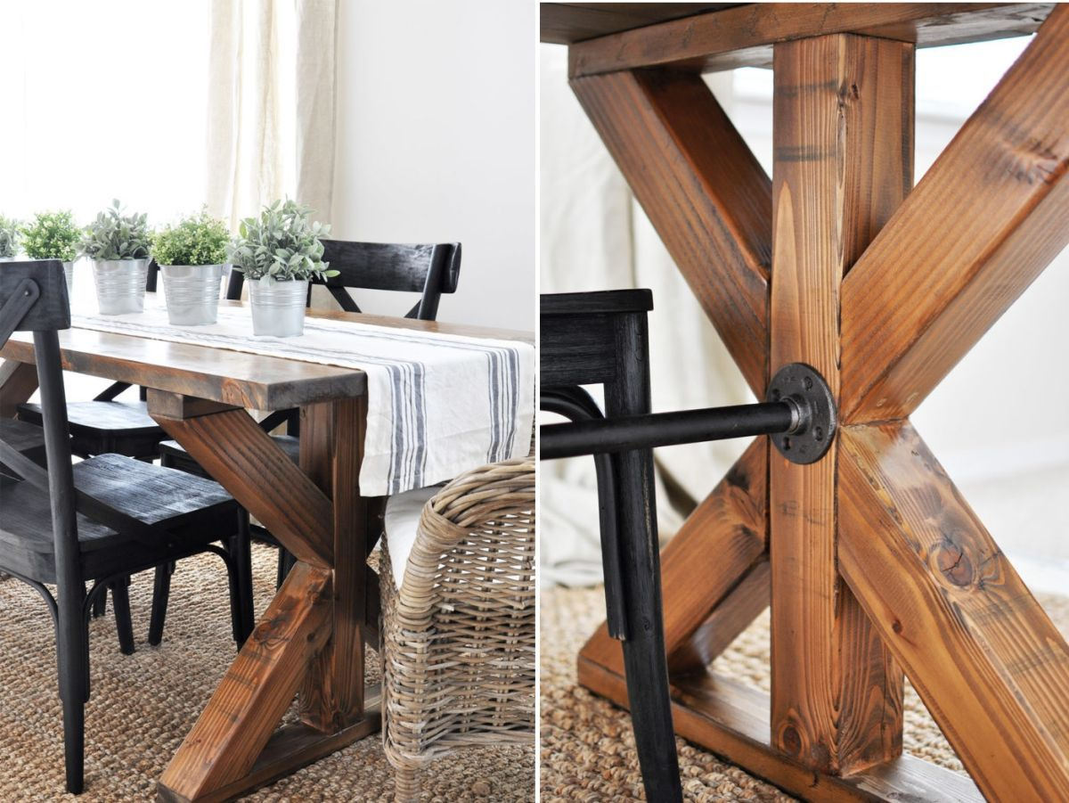 Diy farmhouse kitchen table projects for beginners large