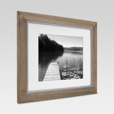 11 X 14 Matted To 8 X 10 Wood And Metal Edge Frame Brown Threshold Frame White Picture Frames Picture Frames
