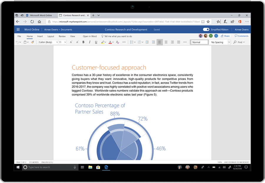 Microsoft Gives Office A Refreshed Look And Feel With Images