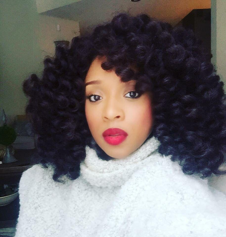 gorgeous - kierra sheard crotchet curly hair style | wig