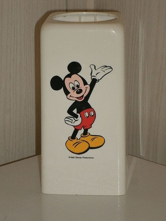 Vintage Walt Disney Mickey Mouse Dixie Cup by NeverTooOld on Etsy, $20.00