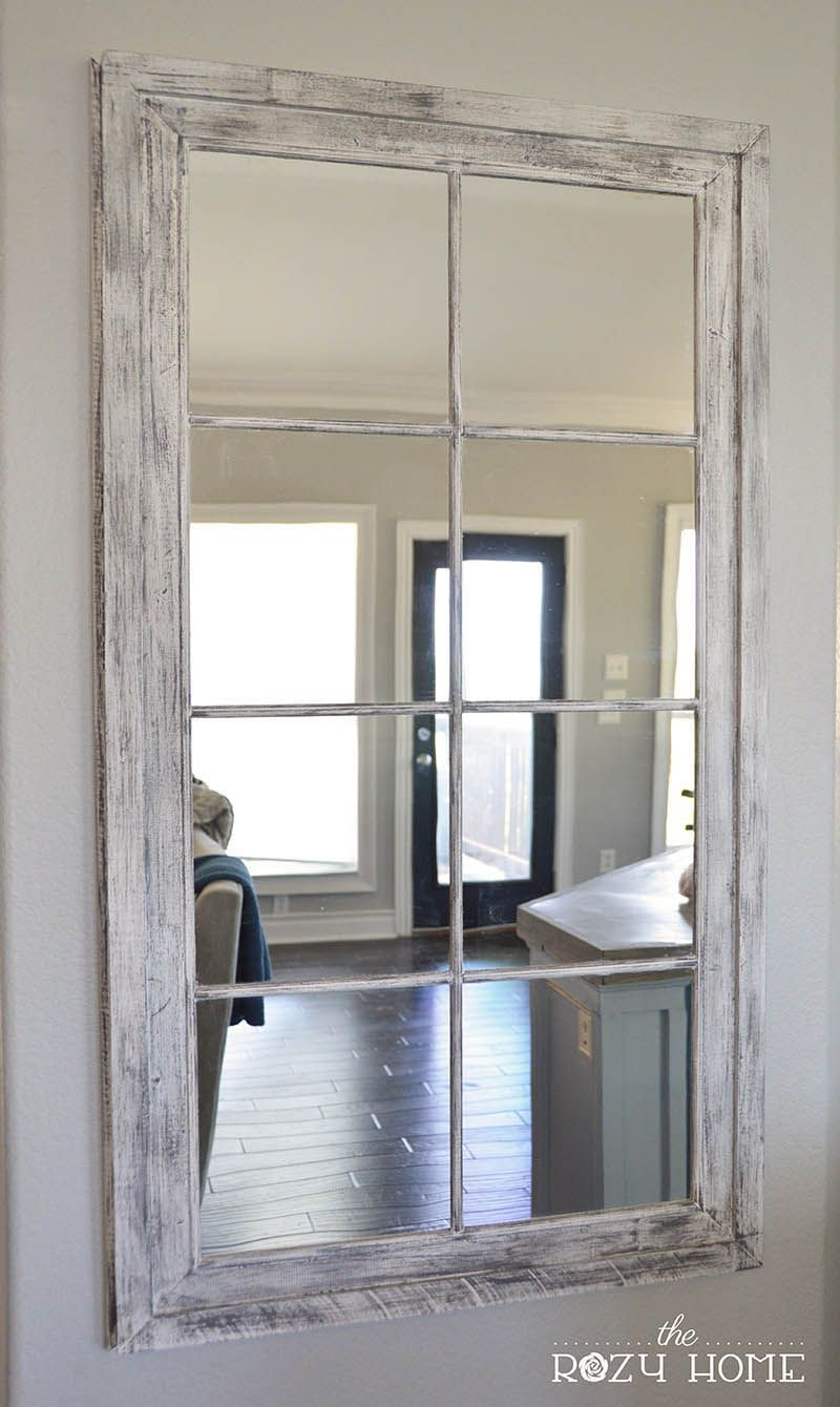 Diy Rh French Window Pane Oversized Mirror Diy Pinterest Home