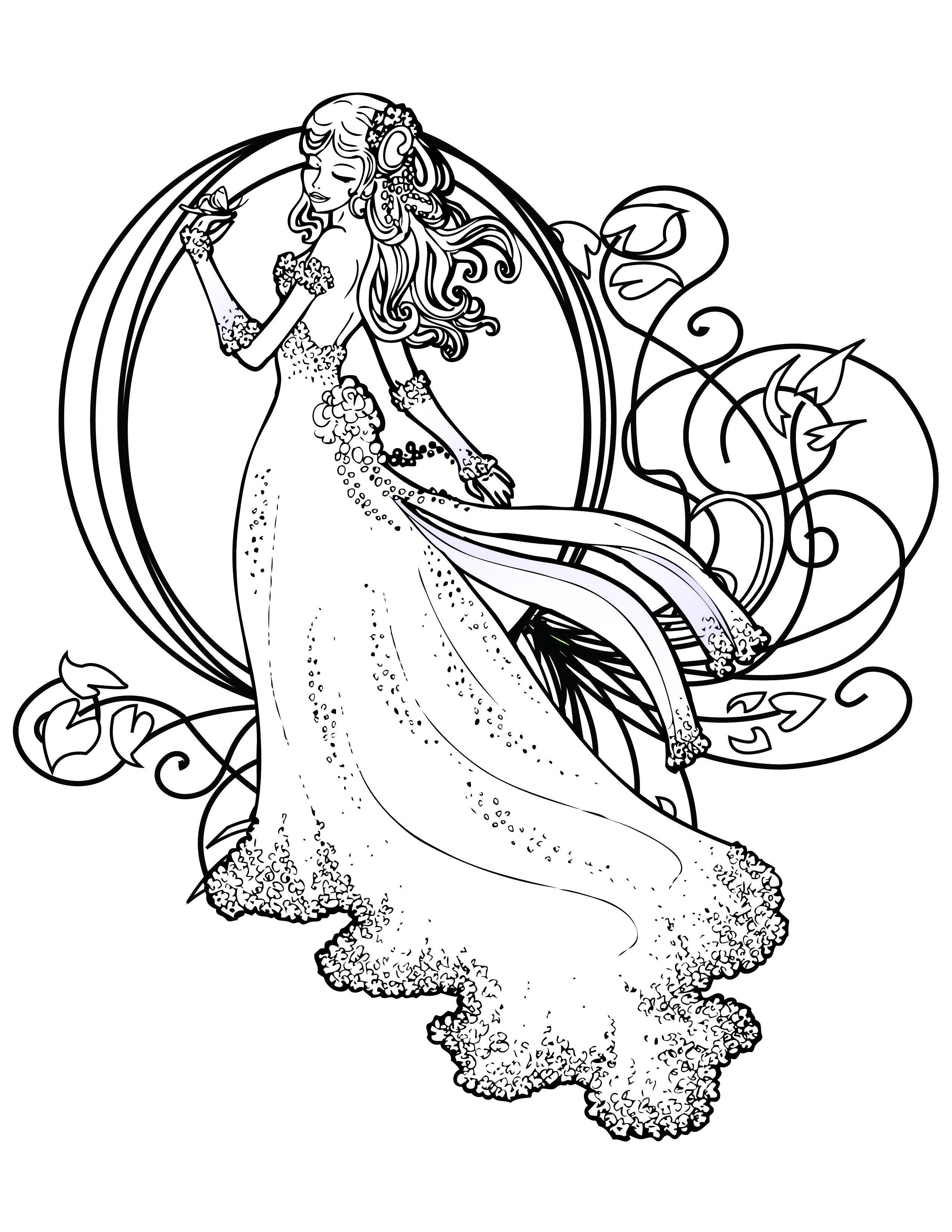 Coloriage De Princesse Disney Gratuit à Imprimer Coloring