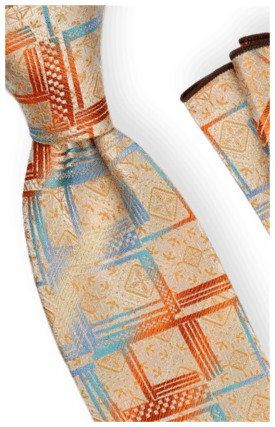 Tie and Hanky Set | 100% silk | Big-Knot | BWR745
