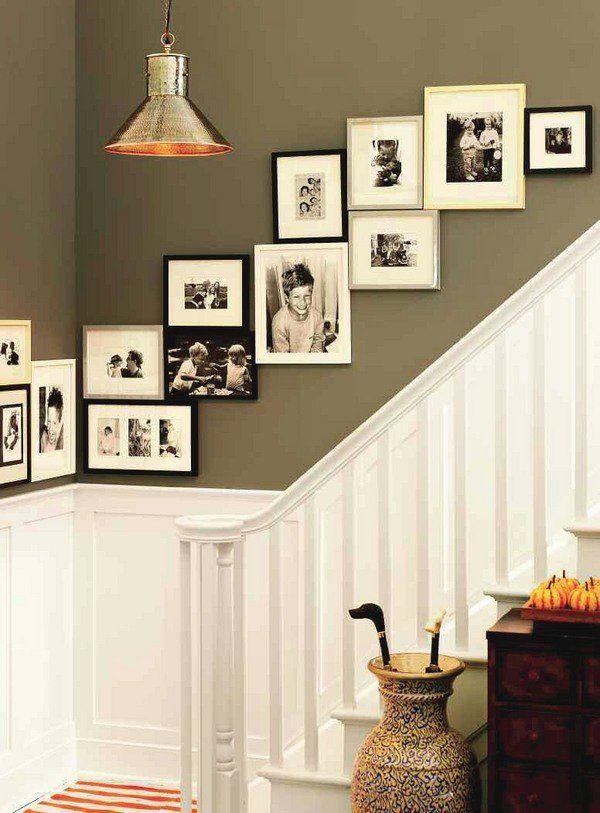Staircase Photo Wall Home Decoration Ideas Photo Frames Einrichten   Wohnzimmergestaltung  Wand Beispiele