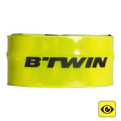 15 - Cycling Cycling - 100 Snap On High Visibility Cycling Armband B'TWIN - Bike Accessories