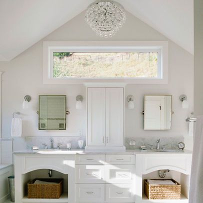 Window Above Vanity Bathroom Design Ideas Pictures Remodel Decor White Marble Bathrooms Marble Bathroom Designs Bathroom Design