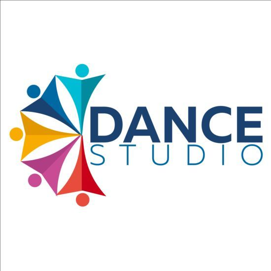 set of dance studio logos design vector 08 studio logo dance rh pinterest co uk dance studio logos samples dance studio logo ideas
