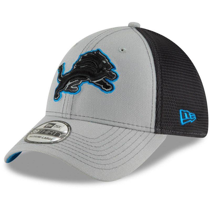 6d4bc61c Detroit Lions New Era 2T Sided 39THIRTY Flex Hat - Gray/Graphite ...