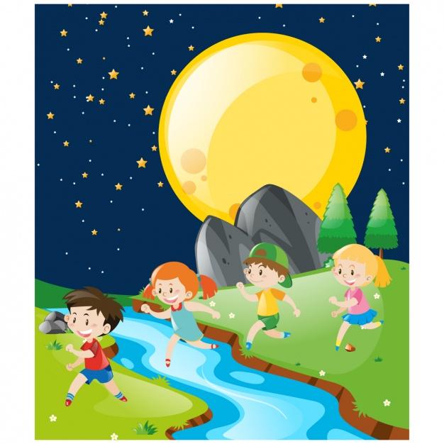 Dibujo Del Dia Y La Noche Para Ninos Buscar Con Google Graphic Design Logo Kids Playing Vector Free
