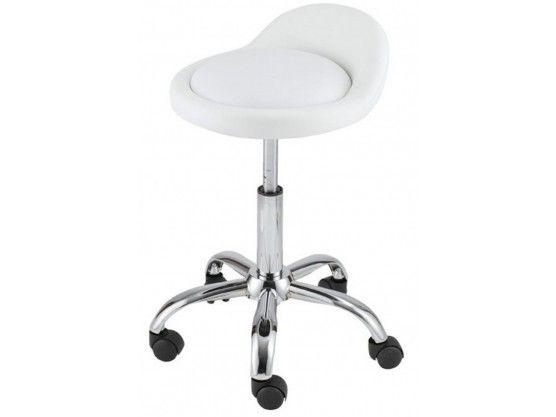 Tabouret de bureau à roulettes blanc camille roulette camille