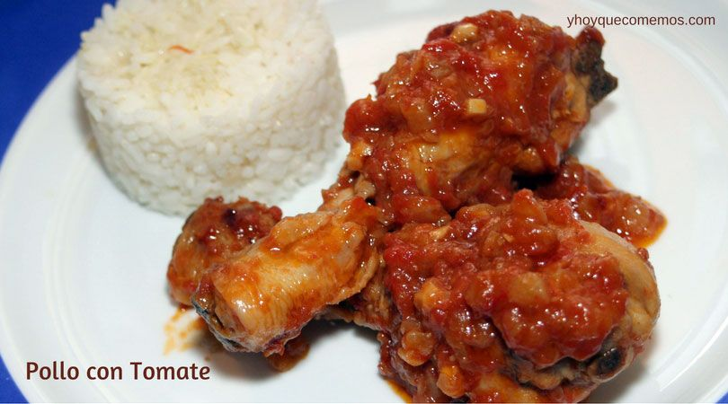 POLLO CON TOMATE. Dos ingredientes básicos que se aúnan para crear un delicioso y sencillo plato. Además, con salsa de tomate casera.   ¡Qué delicia!  VER RECETA PASO A PASO AQUI--->http://goo.gl/q9fP1i