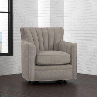 Shop For Portfolio Zahara Dove Grey Linen Swivel Arm Chair. Get Free  Shipping Atu2026
