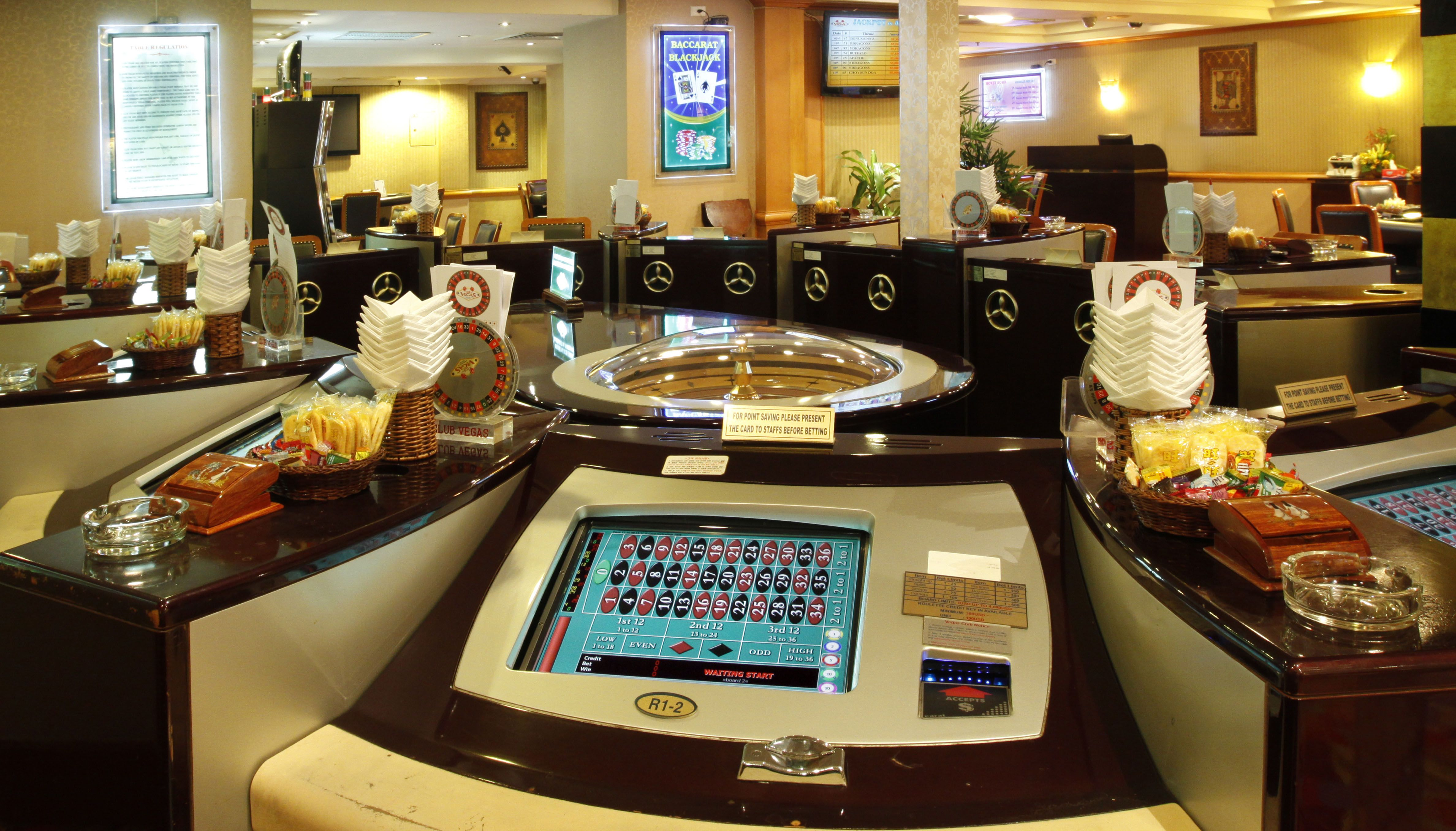 Club Vegas International Gaming Tables And The Latest Slots