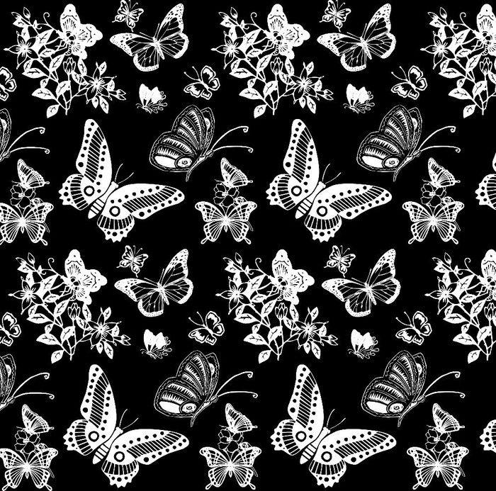 Mariposas blanco y negro estampados pinterest - Papel de pared blanco y negro ...