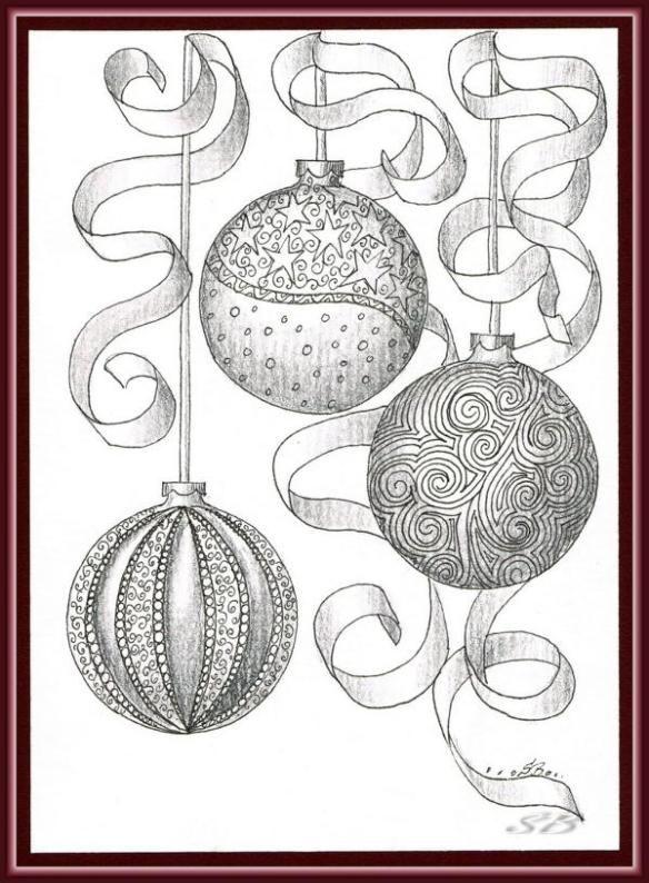 weihnachtskugeln und eine zauberhafte weihnachtsrobbe