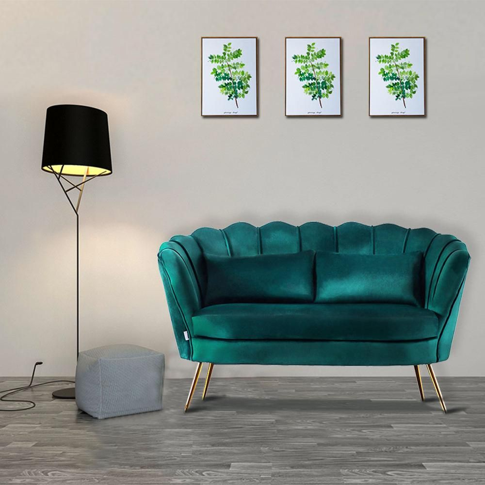 Best Ways To Redecorate With Green: 2 Seater Lotus Velvet Sofa In 2020