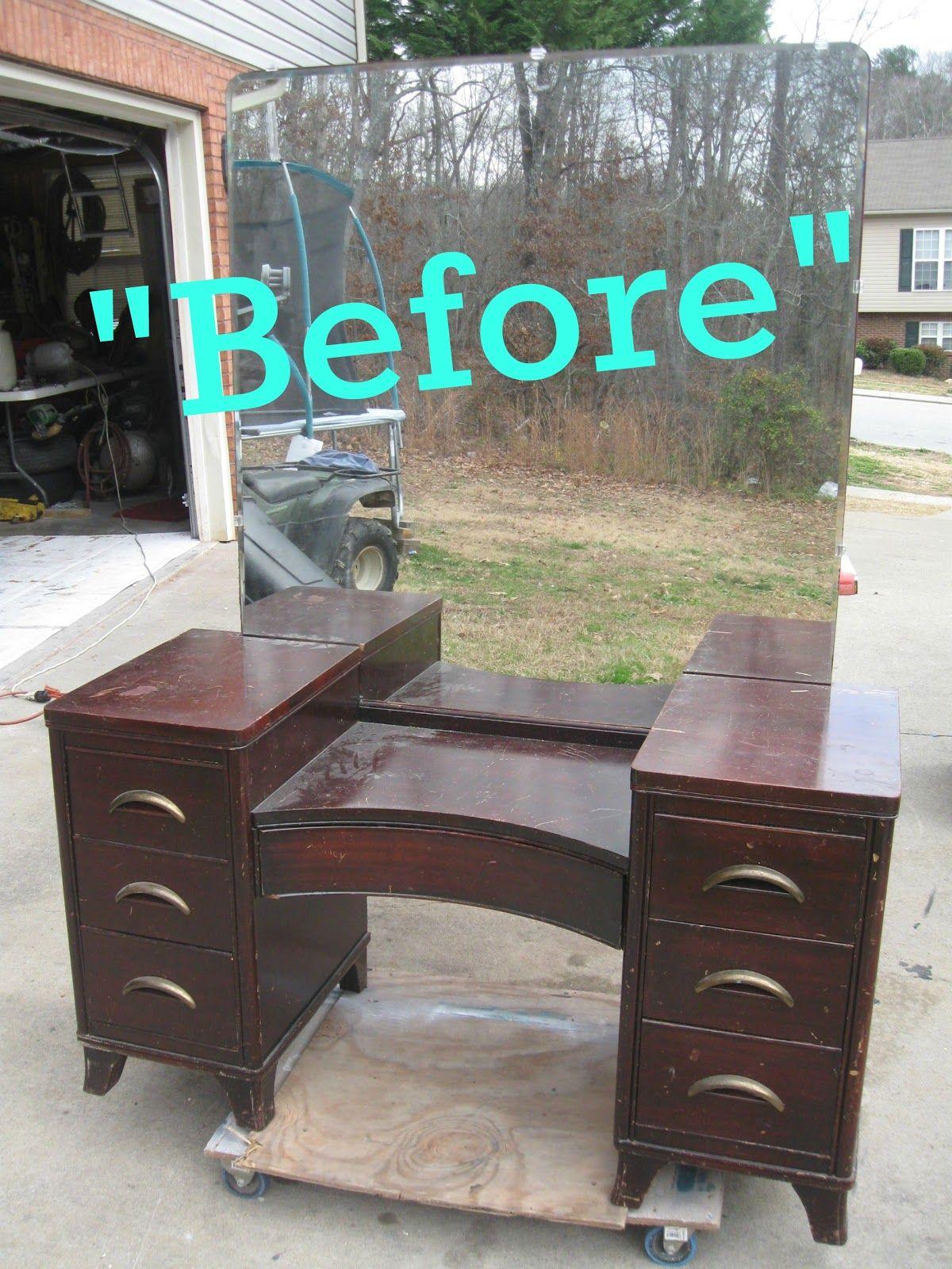 Antique vanity table dresser for beauty bedroom girl vanity table that 39 s not junk refurbished for Refurbished bedroom furniture