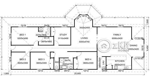 Verandah is ideal floor plan not quite right room to improve
