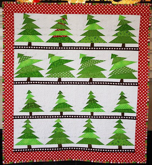 The Tree Lot Holiday Christmas Mini Quilt Wall Hanging Pattern PDF