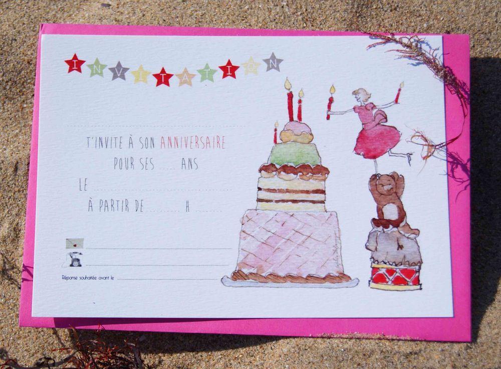 invitation anniversaire fille 12 ans a