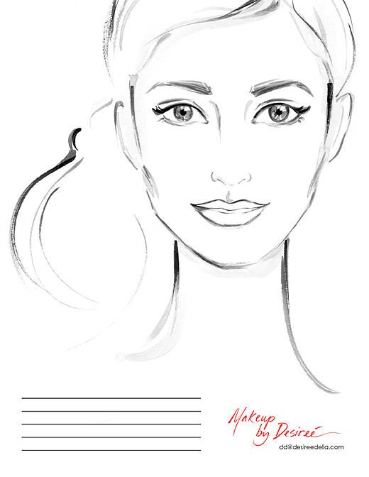 Face Outline For Face Painting