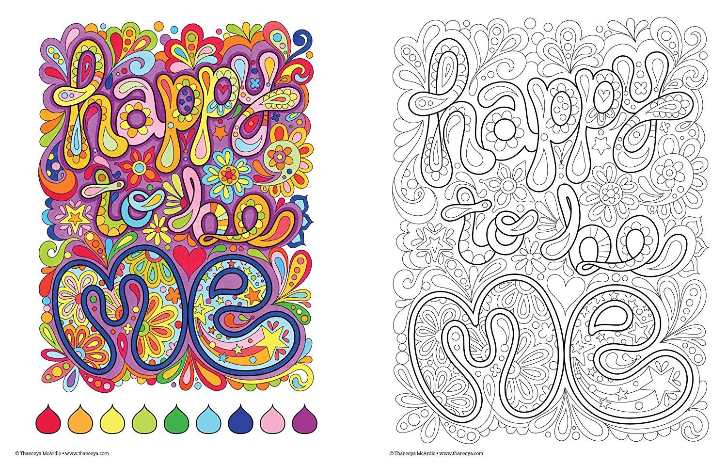 Good Vibes Coloring Book (Coloring Is Fun) - Adult Coloring Book ...