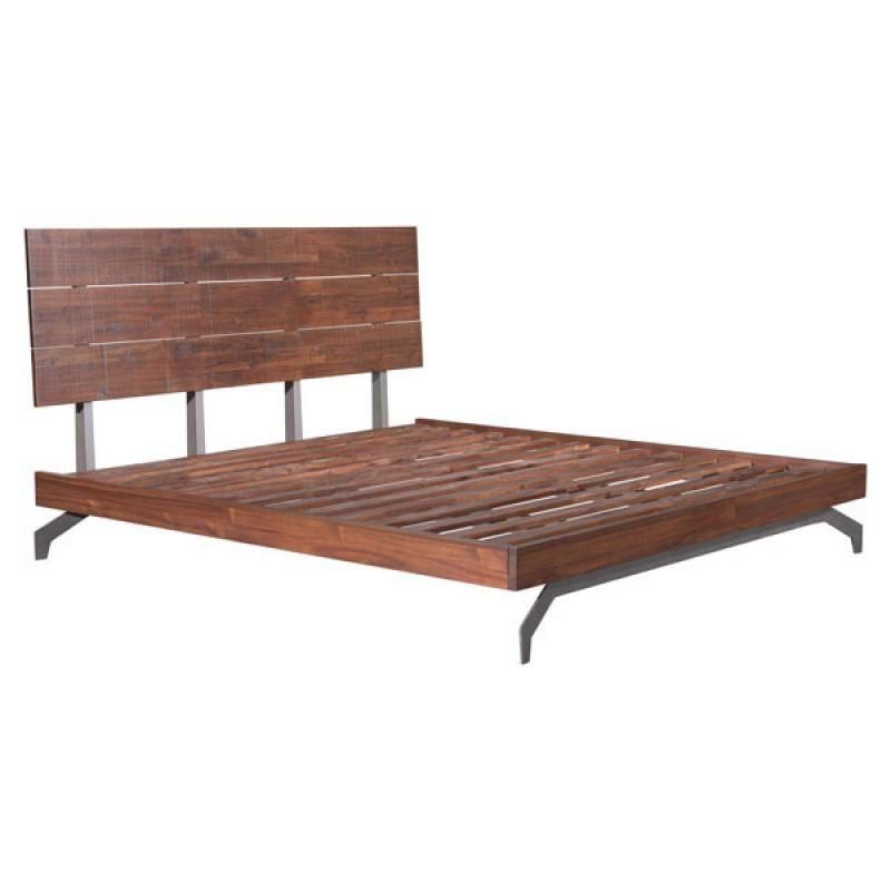 Perth King Bed Chestnut Metal Platform Bed Natural Wood Bed Wood And Metal