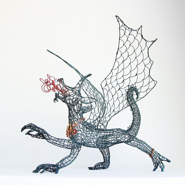 Dragon Queen Wire Sculpture and Necklace | Dragons, Wire art and ...