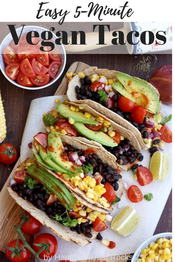 Healthy And Easy 5 Minute Vegan Tacos Recipe Is A Satisfying
