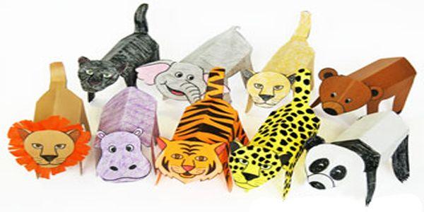 Sagome di animali da colorare ritagliare e costruire for Maschere da colorare animali