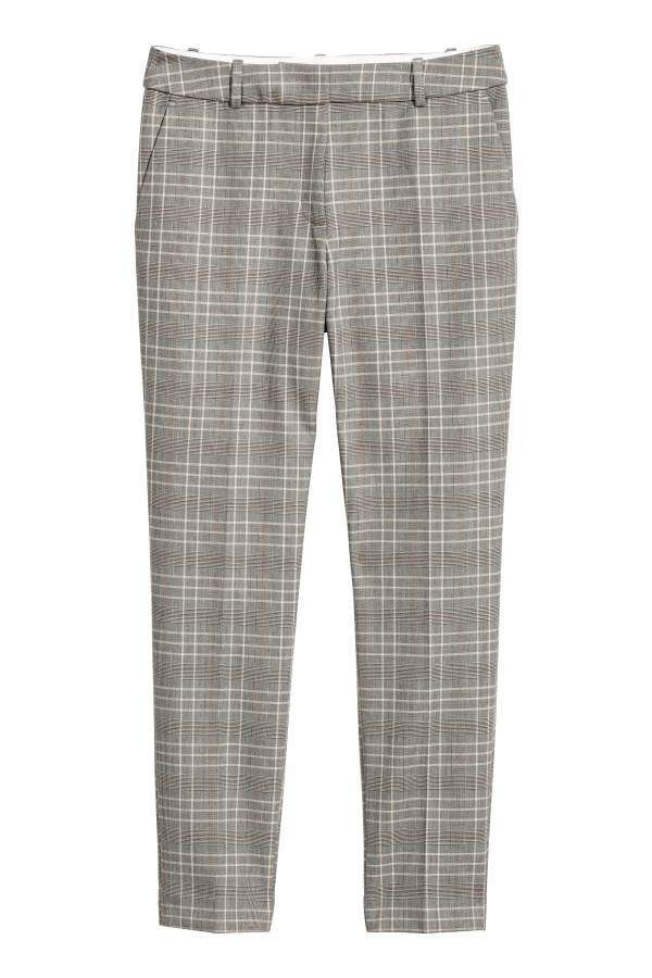 Keine Verkaufssteuer günstig kaufen perfekte Qualität H&M H & M - Stovepipe Pants - Gray beige/checked - Women ...