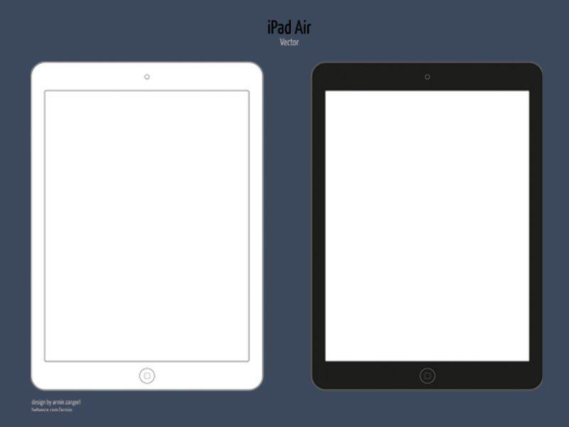 minimalistic ipad air vector mockup - Ipad App Wireframe