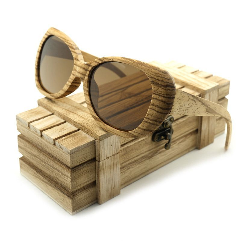 1bf6f31826 BOBO BIRD New Fashion Men s Polarized Sun Glasses Bamboo Zebrawood Brand  Design With Reflective Mirror Tint
