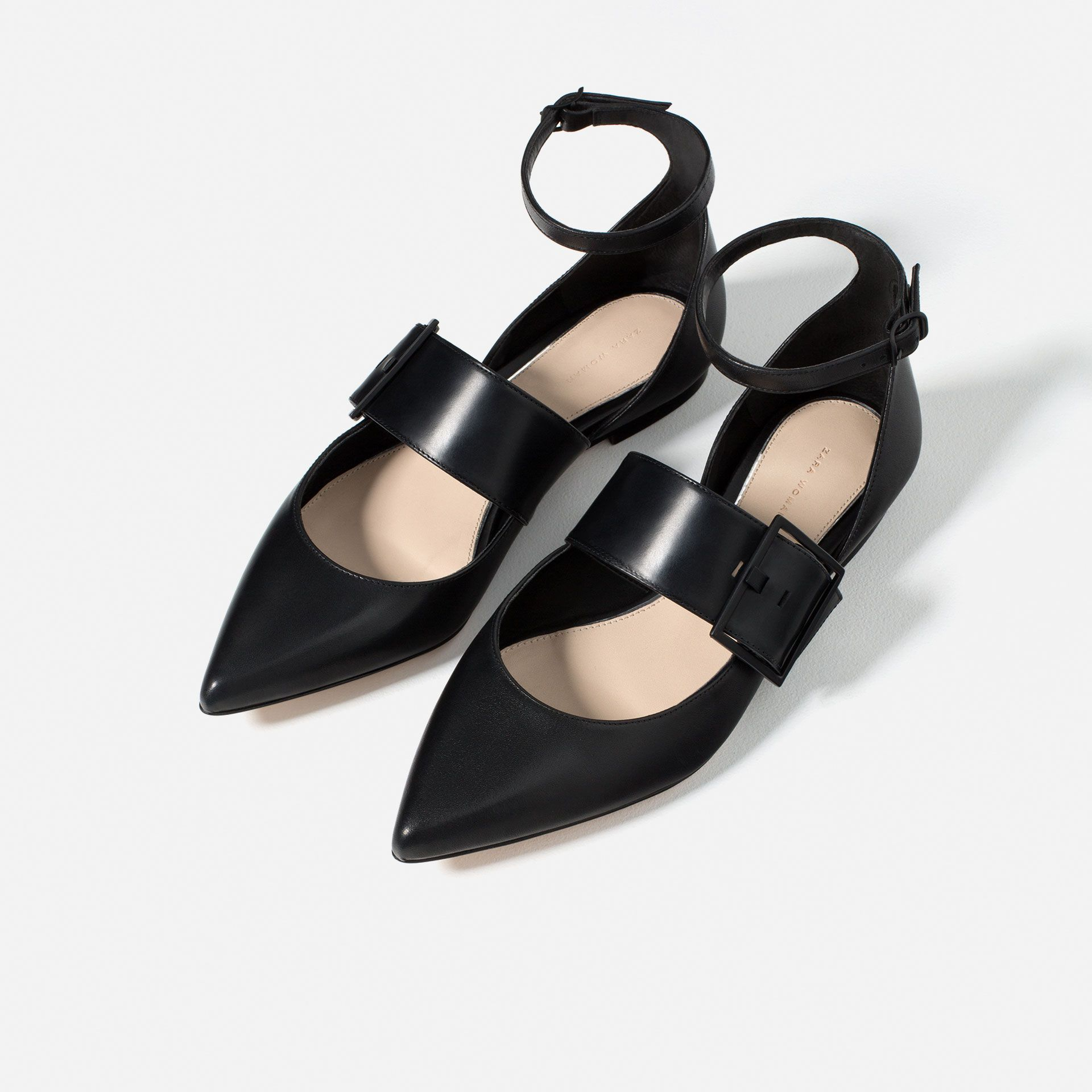 BUCKLED BALLET FLATS - Shoes and bags - WOMAN - NEW IN | ZARA United States
