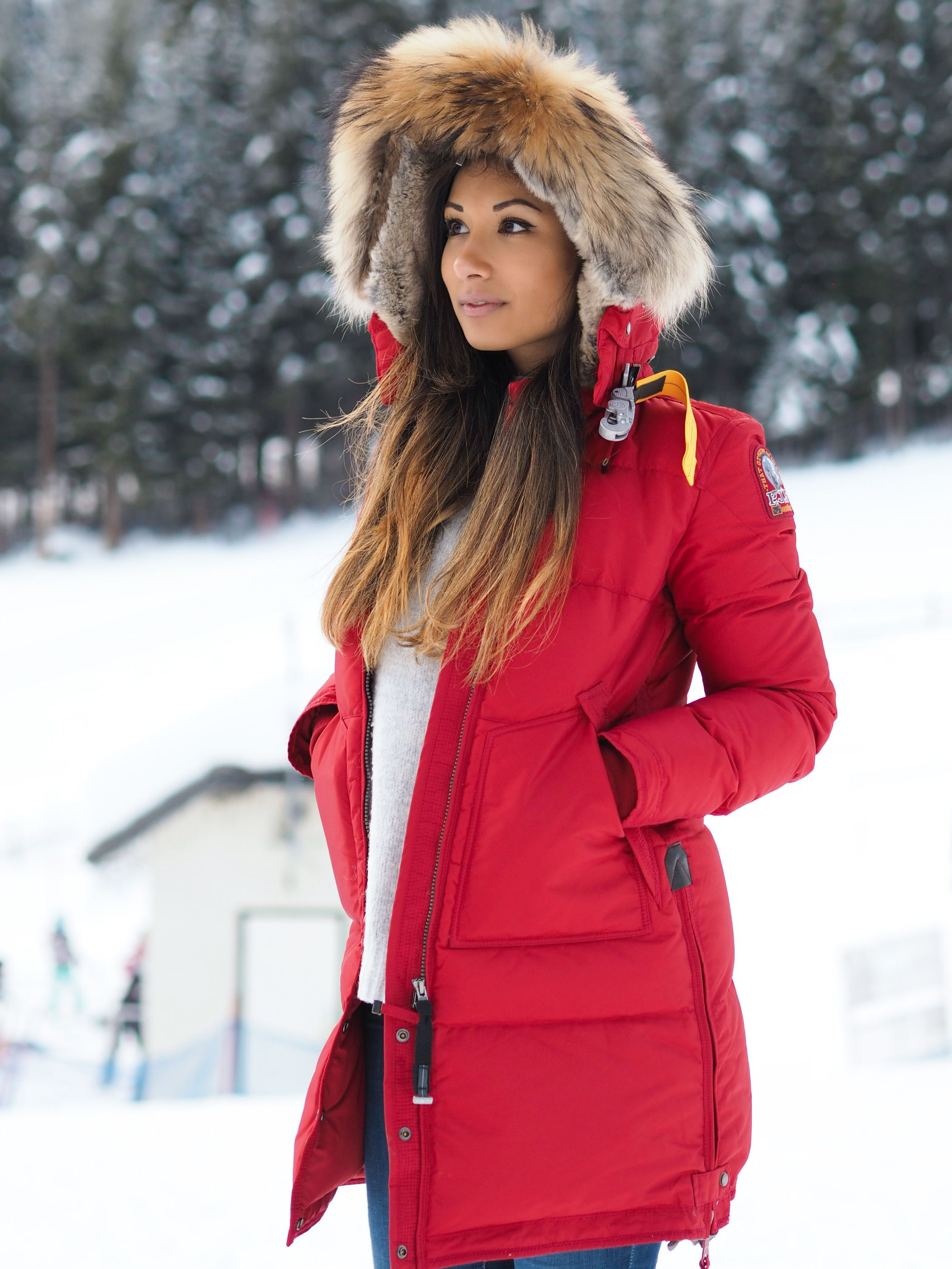 parajumpers long bear coat red