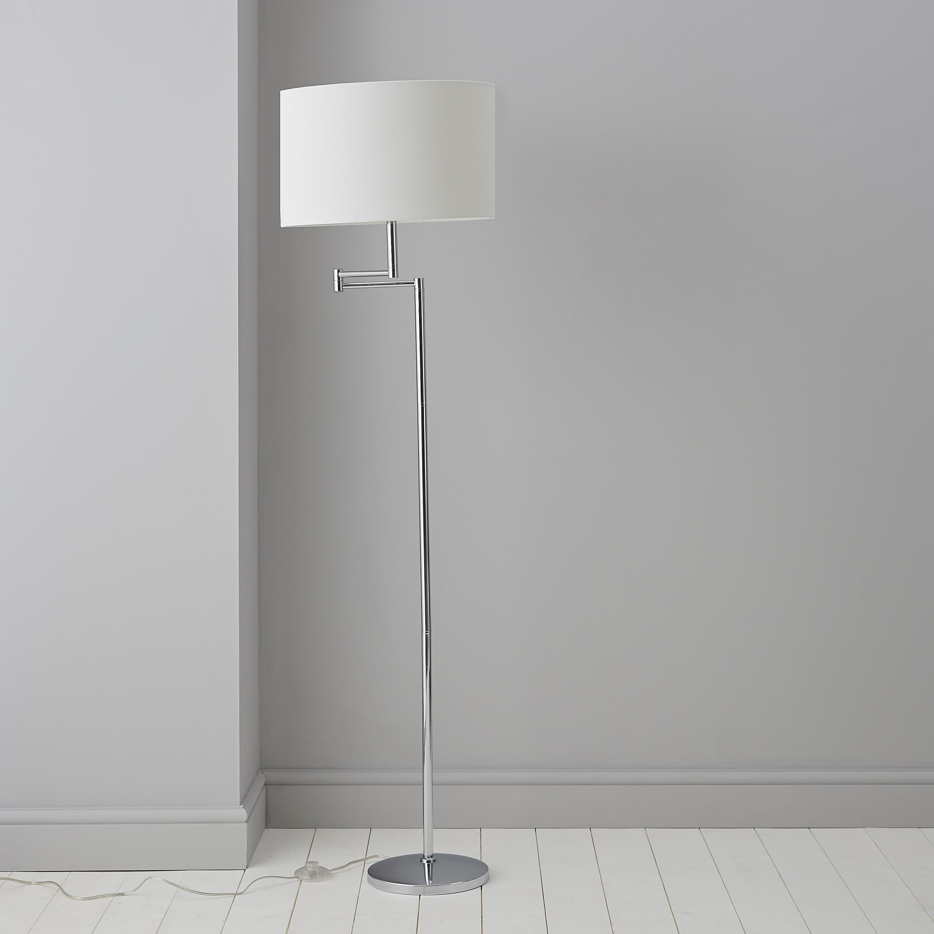 Einthoven Swing Arm Chrome Effect Floor Lamp | Floor lamp, Chrome ...