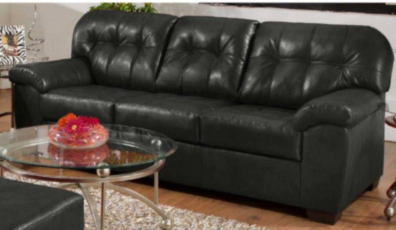 Simmons 1626 Cisco Espresso Bonded Leather Sofa Hope Home