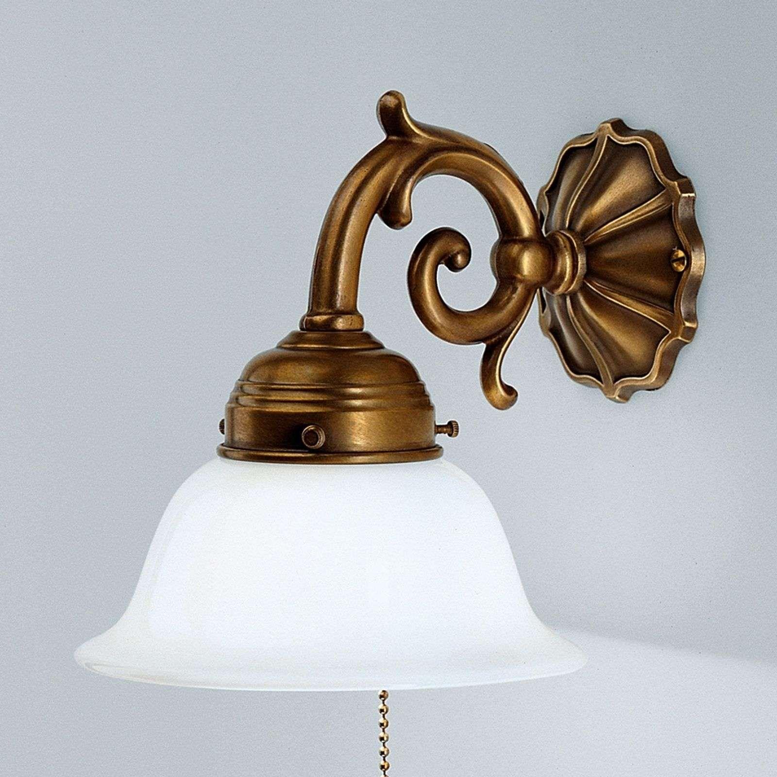 Applique Laiton Edgar Avec Interrupteur A Tirette Laiton Lumiere De Lampe Et Lampes De Table