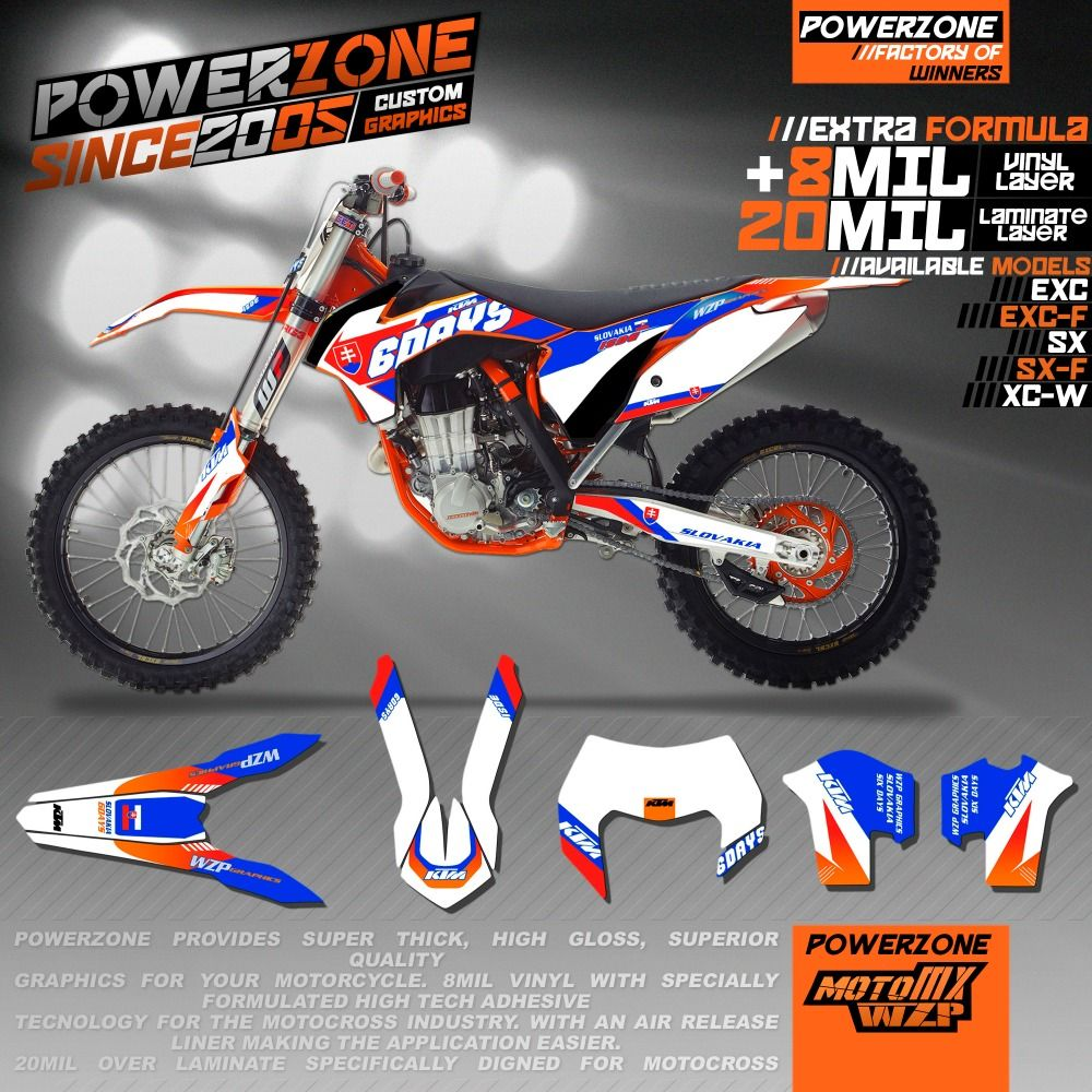 Customized Team Graphics Backgrounds SIXDAYS Custom Decals M - Custom motorcycle stickers kits