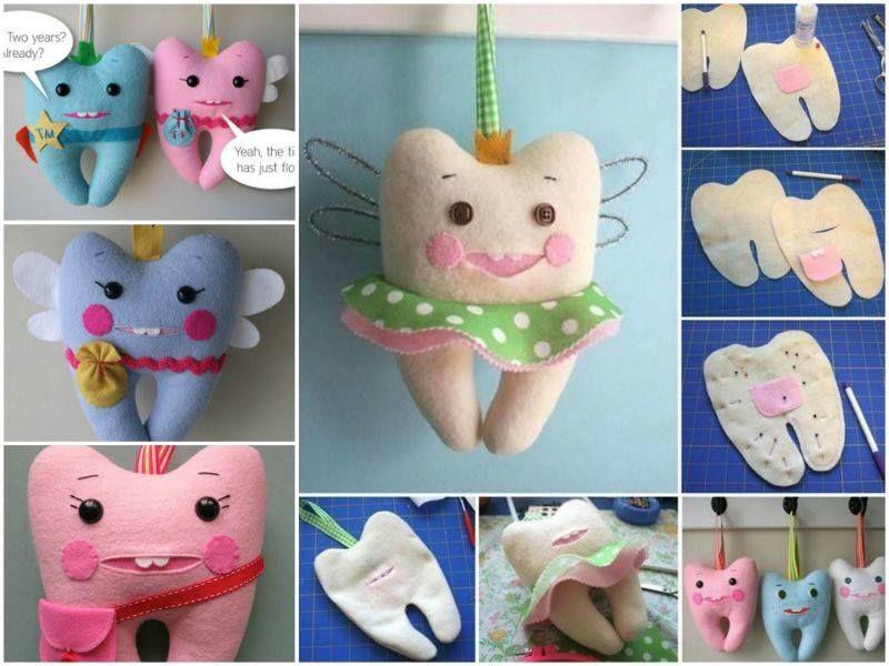 Wonderful DIY Cute Tooth Fairy Pillow | Basteln | Pinterest ...