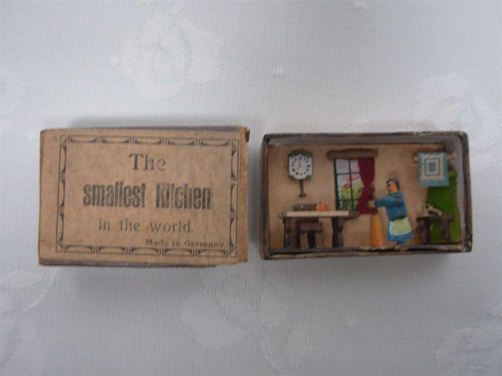 Antique German Erzgebirge Smallest Kitchen In The World Miniature