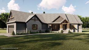 Marietta 1 Story Modern Mountain House Plan #craftsmanstylehomes