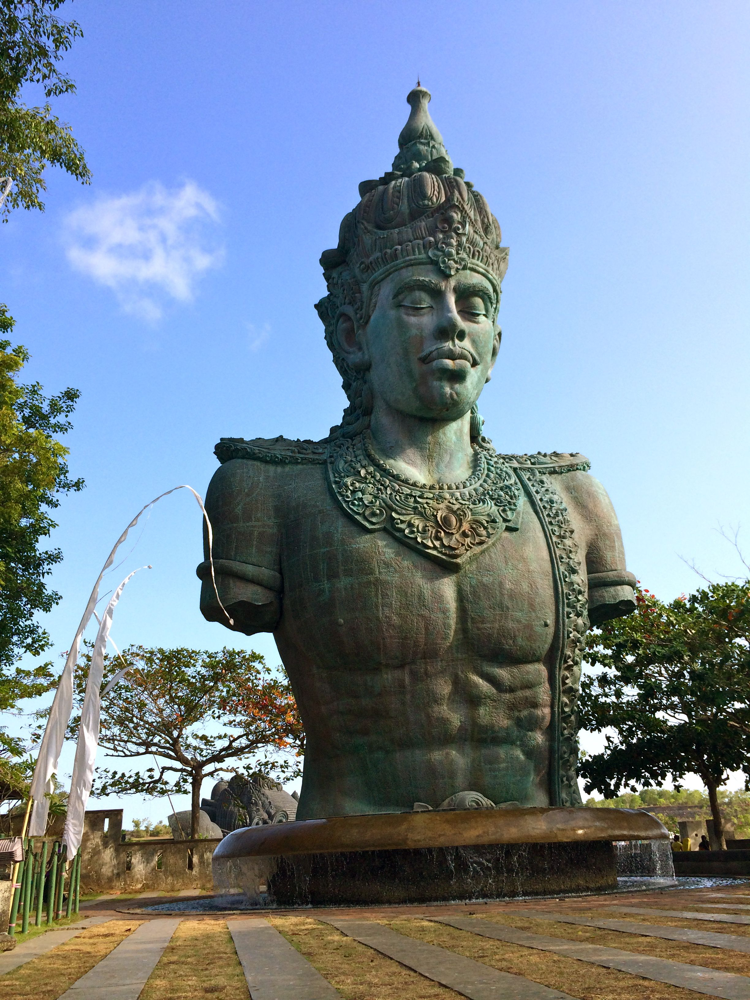 bali gwk cultural park statue of the god wisnu