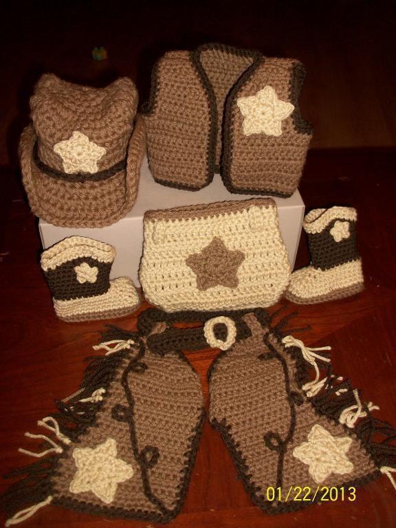 Western Hat Crochet Pattern Free | Shaw Crocheting Cowboy Set ...