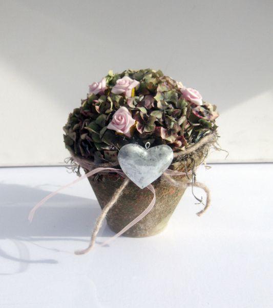 rosen hortensien dekoration herz von kunstbedarf24 auf floristik pinterest. Black Bedroom Furniture Sets. Home Design Ideas