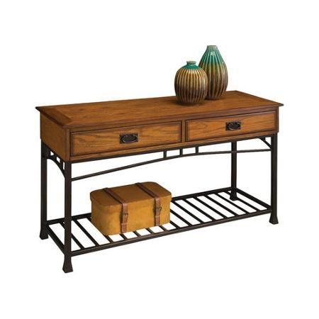 Home Styles Modern Craftsman Console Sofa Table Walmart Com