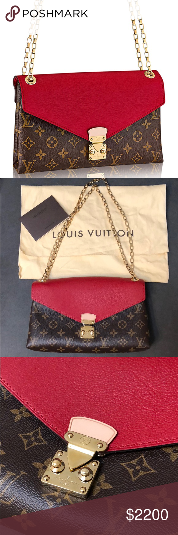 99bffc53d80a NEW authentic Louis Vuitton Pallas Chain NWT in 2018