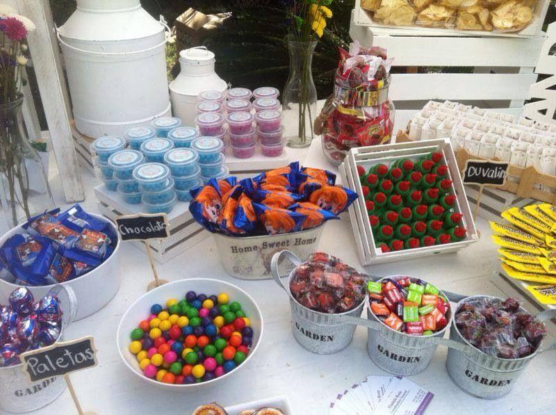 Mesa de dulces para boda un poquito de mi trabajo en for Decoracion de mesas dulces infantiles